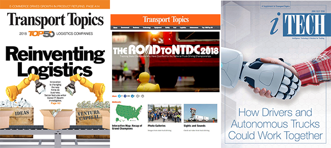 Award-winning features from Transport Topics