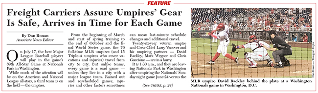 Award-winning umpires article
