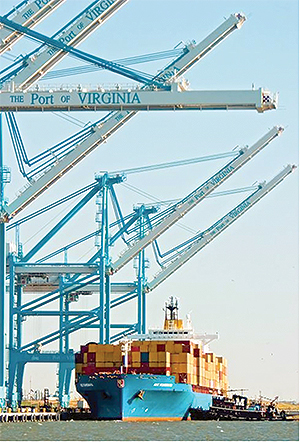 Port of Virginia in Norfolk