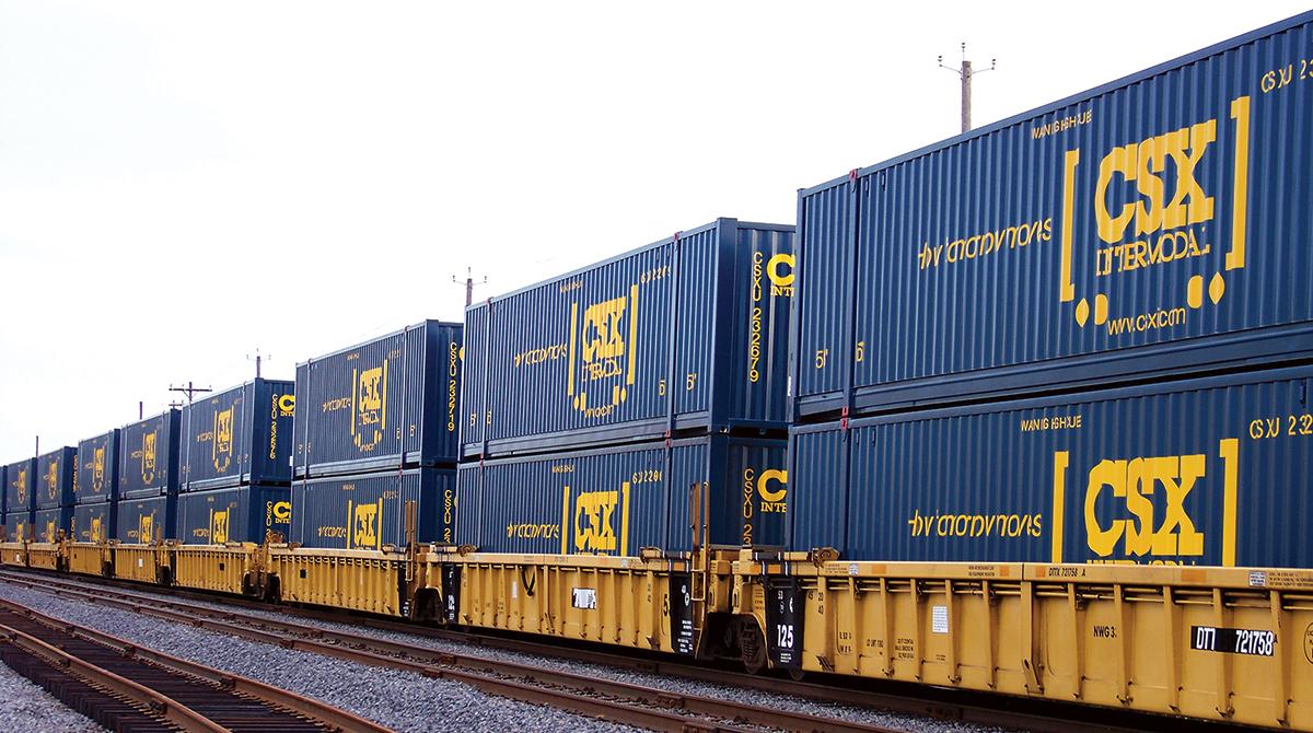 CSX double-stack train
