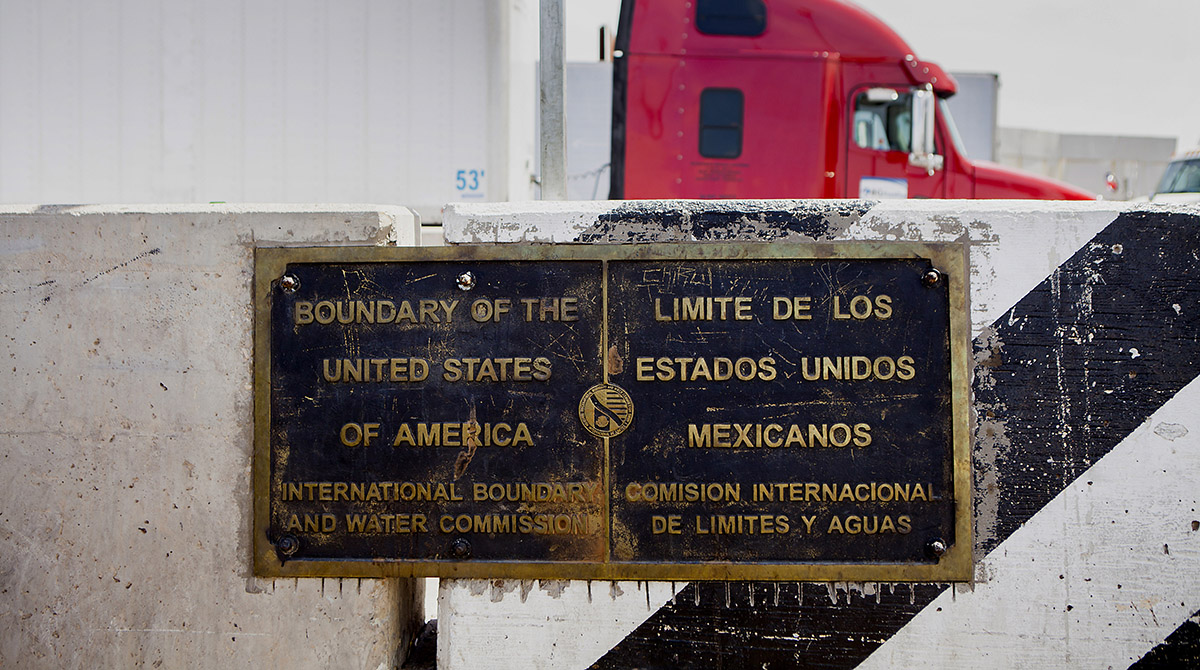 At the border crossing