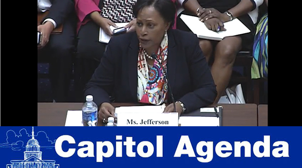 Daphne Jefferson testifying