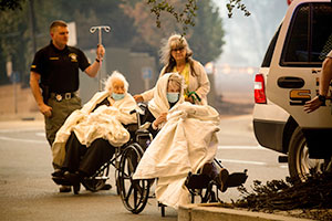 Elderly Escaping Fire
