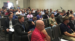 Audience at the Fleet Data and Cybersecurity Conference