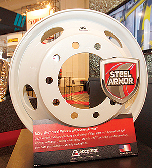 Accuride steel wheel