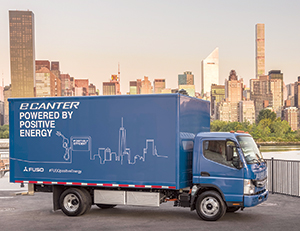 The FUSO eCanter is an all-electric, light-duty truck. (Daimler AG)