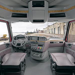 International LT interior