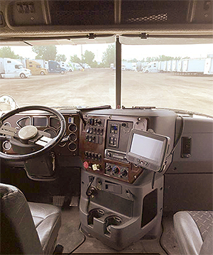 Midwest Freight Systems cab with ELD