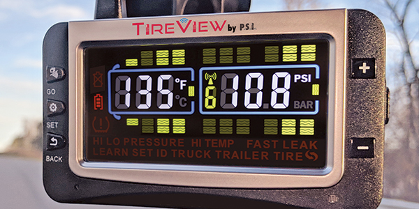 Pressure Systems International's TireView display