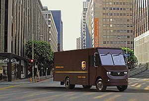 UPS electric vehicle rendering