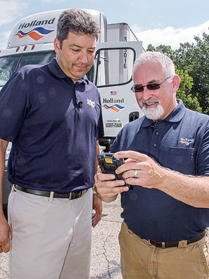 YRC drivers check ELD