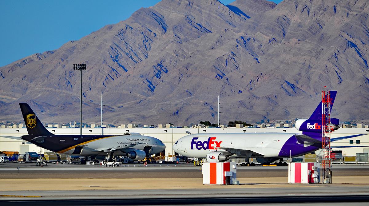 FedEx and UPS Plane