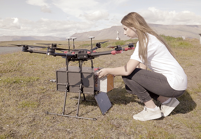 Flytrex drone delivery service operating in Iceland