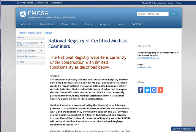 FMCSA Website