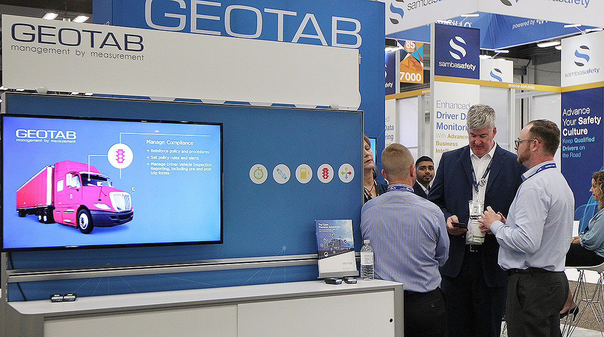 Geotab booth at MCE 2018