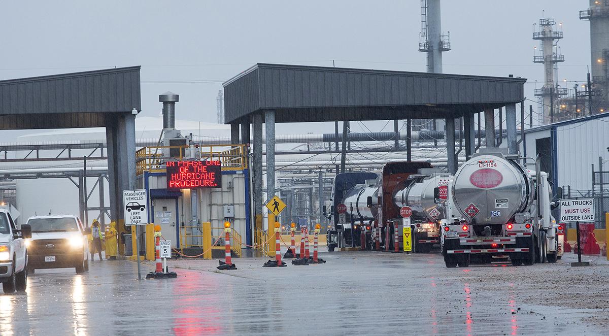 Harvey impacts Texas refinery