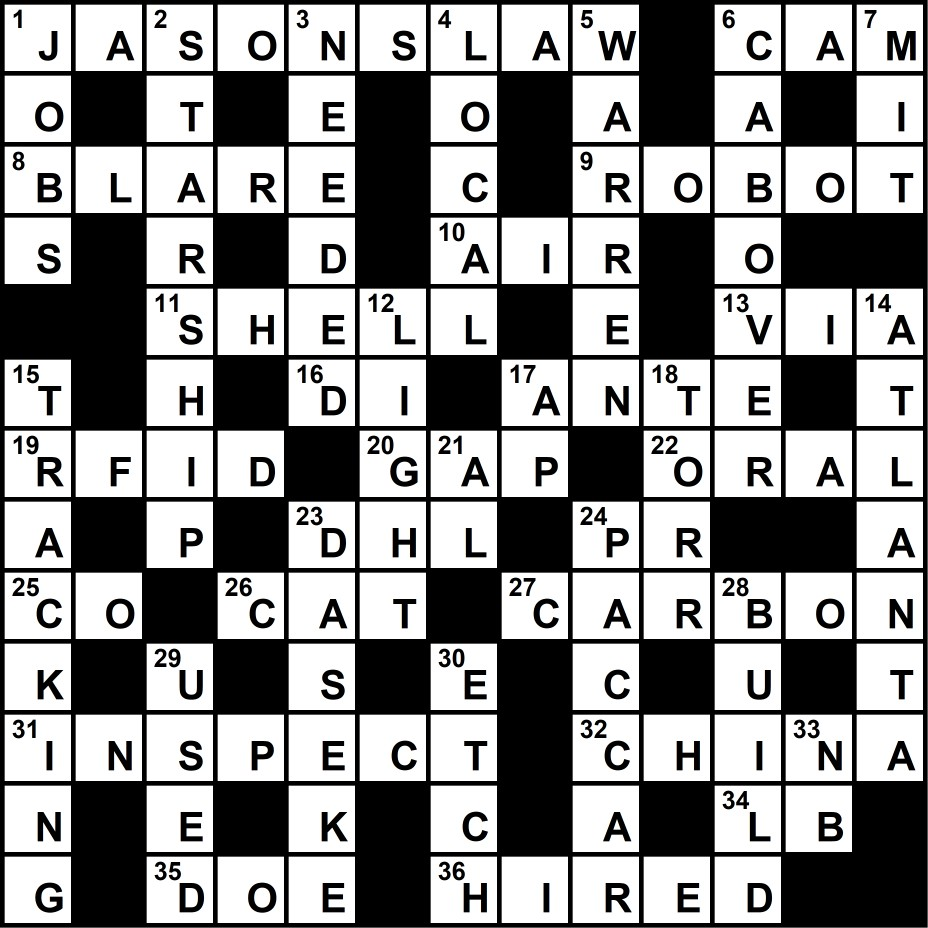 Crossword Puzzle Solution June 18 2018 Transport Topics