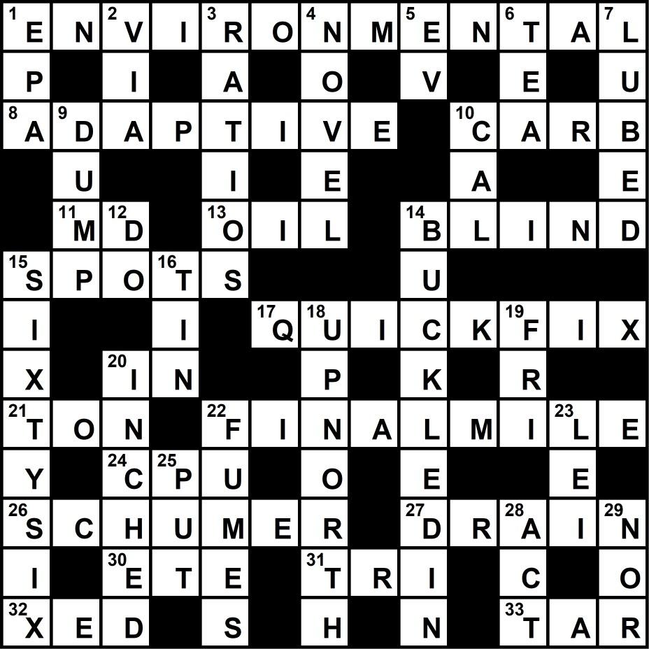 Crossword Puzzle Solution August 28 2017 Transport Topics