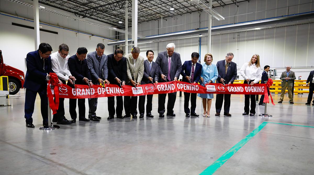 Hino executives at the grand opening of the new Hino plant.
