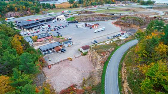 Alexandria Bay Port of Entry overhead view