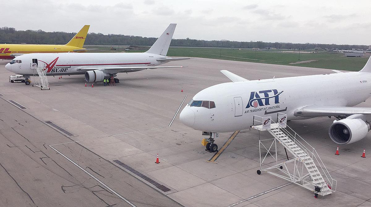 Planes at Chicago Rockford International Airport
