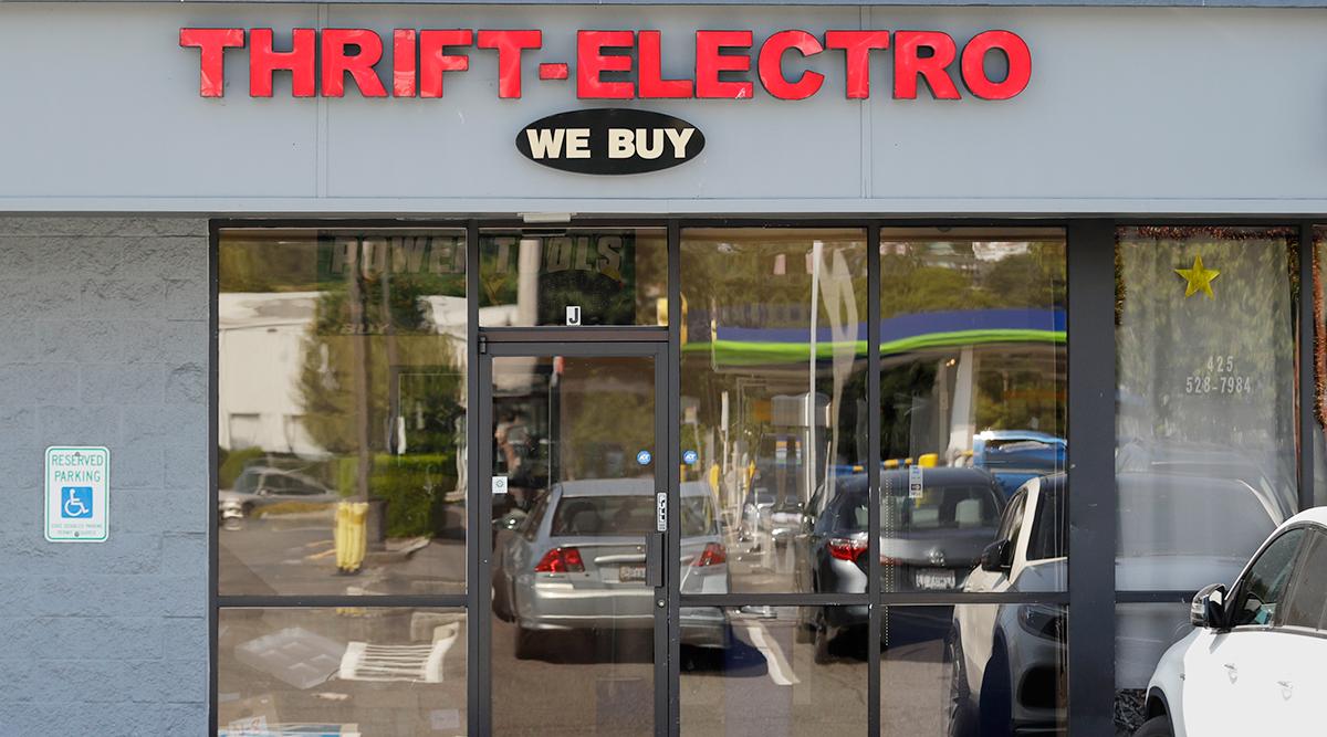 Thrift-Electro pawn shop in Renton, Wash.