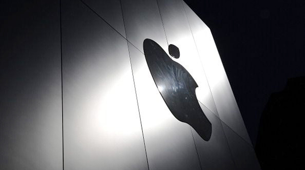 Apple sign on building