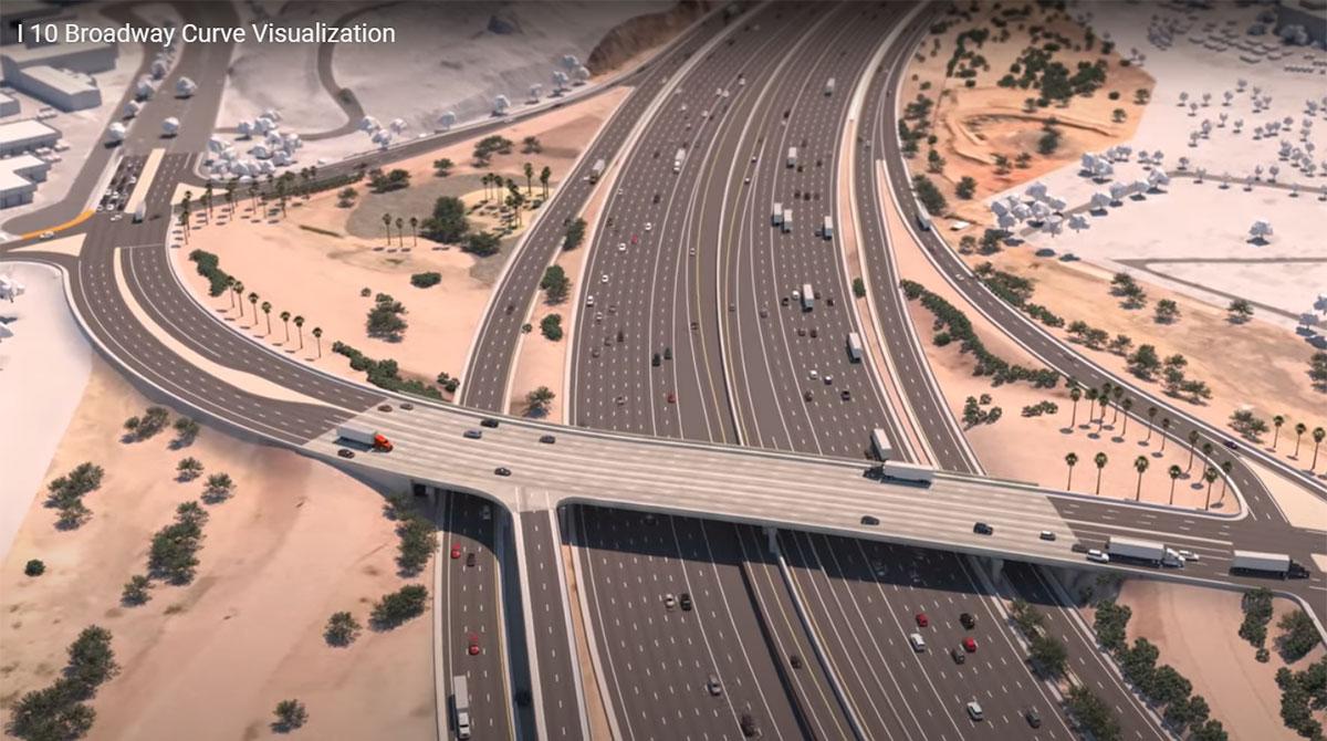 Arizona I-10 curve