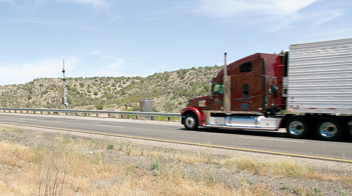 Truck on Interstate 10 in Arizona