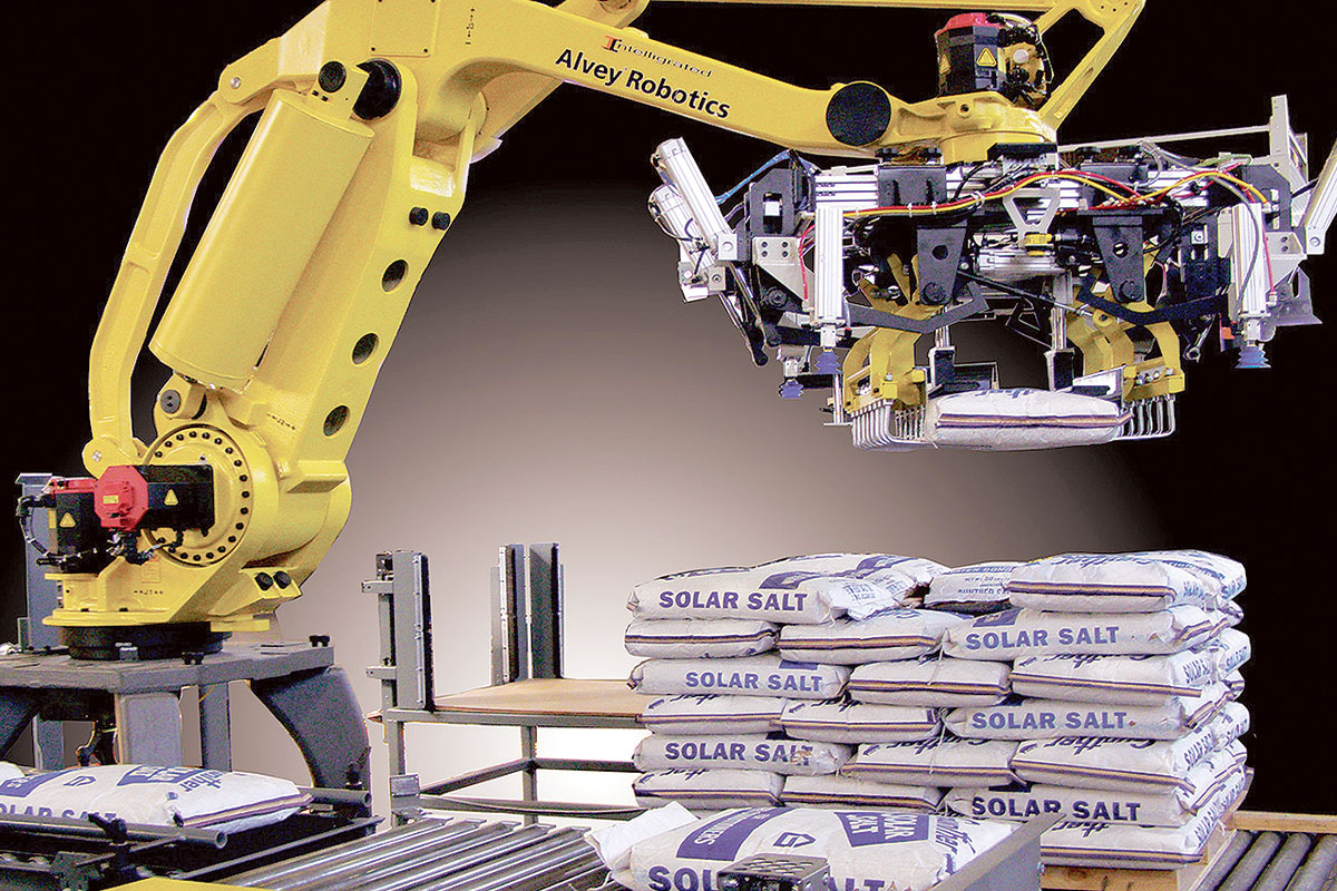 An Intelligrated Palletizer in action