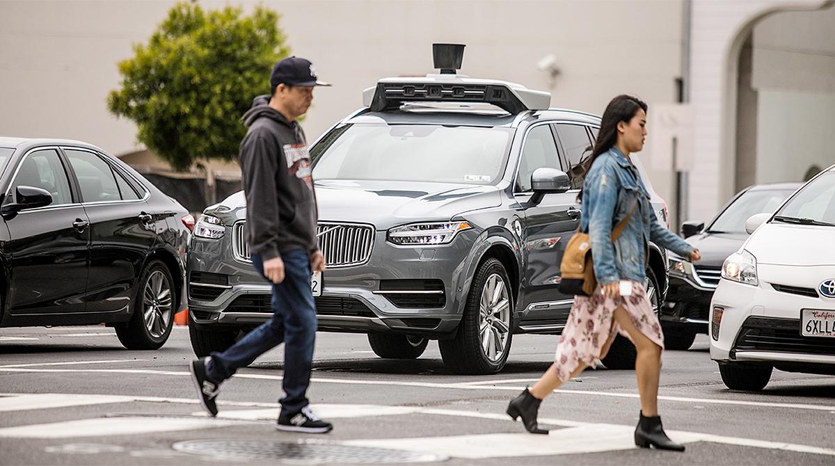Autonomous car in San Francisco