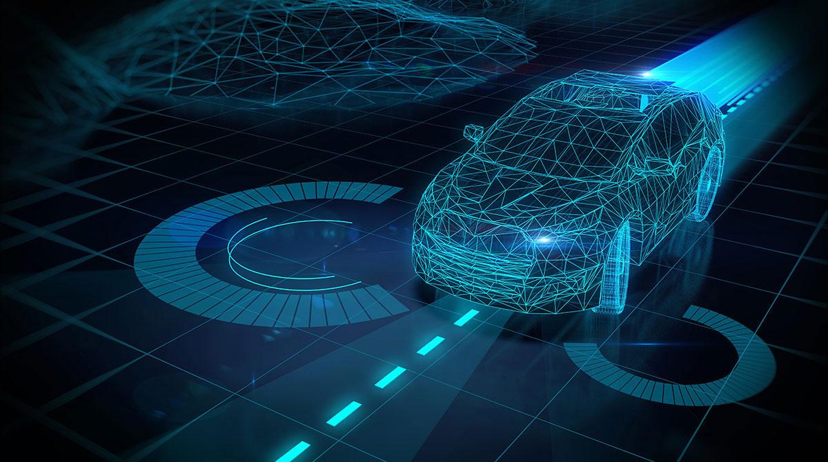 Rendering of autonomous car