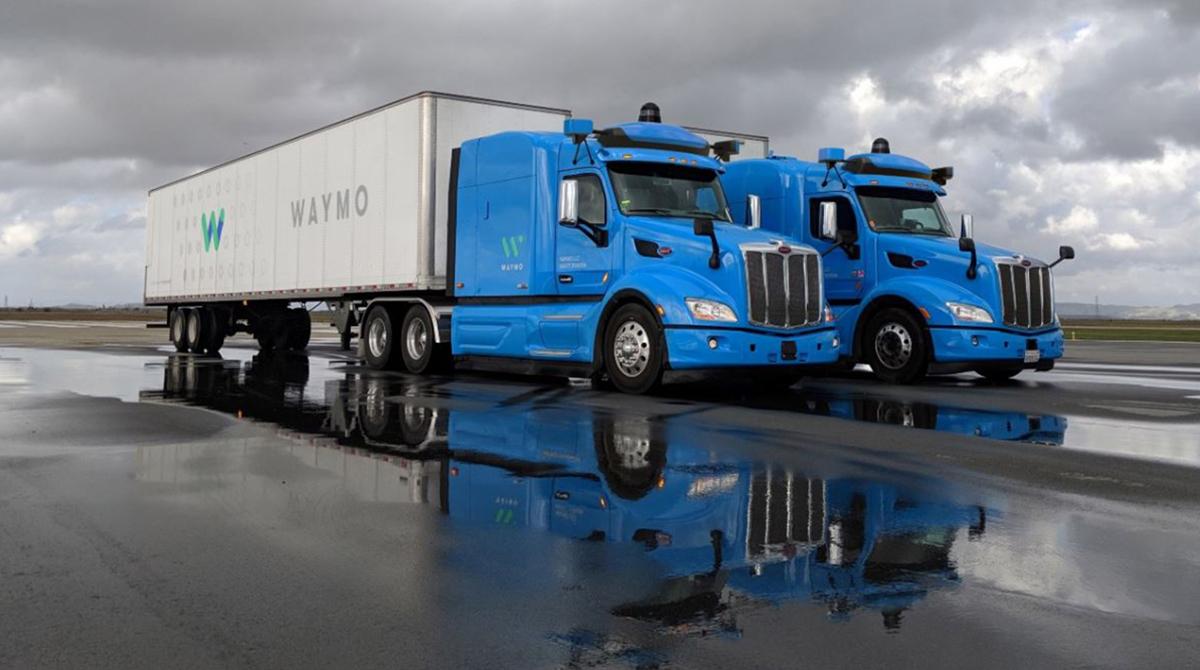 Autonomous Waymo trucks