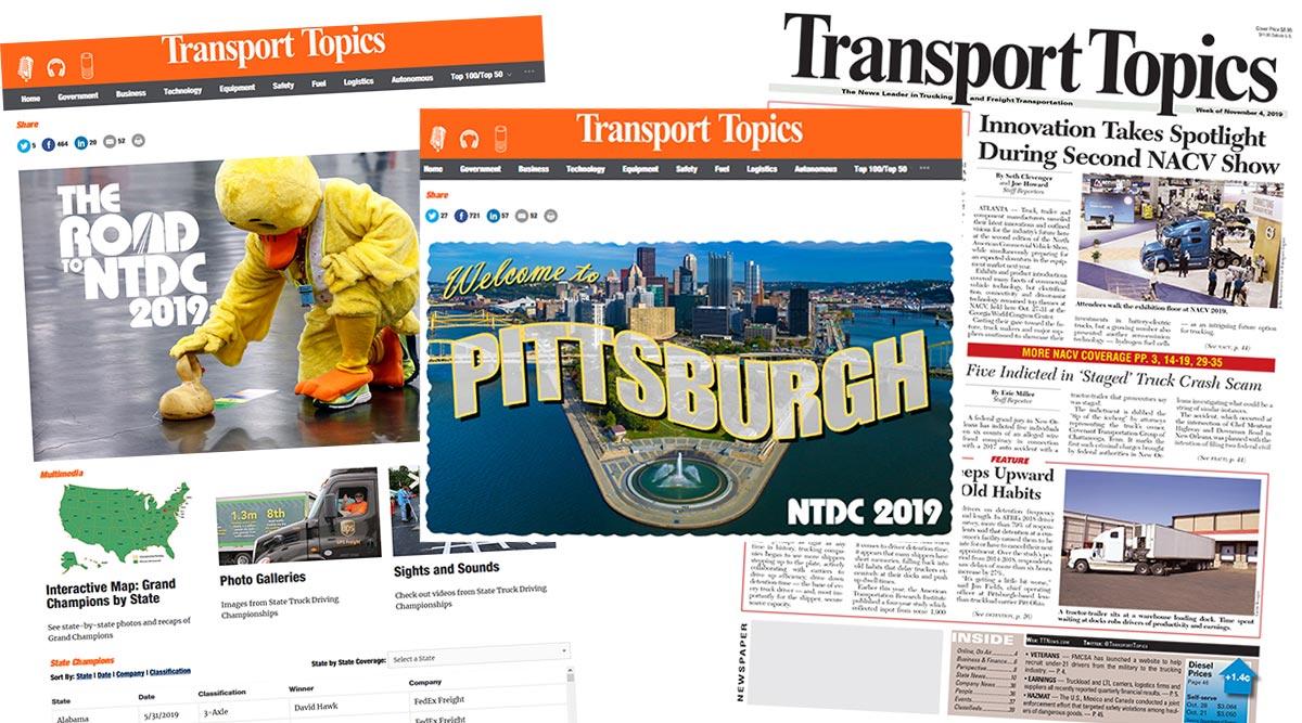 Transport Topics' award-winning coverage