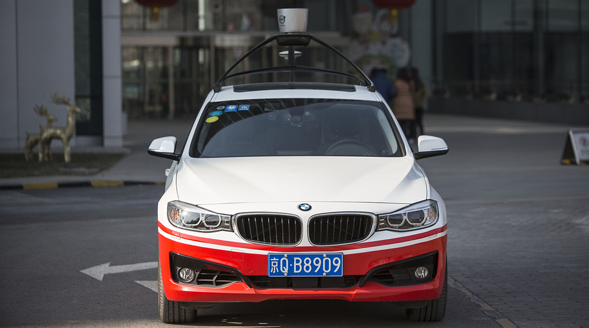 self driving car in china