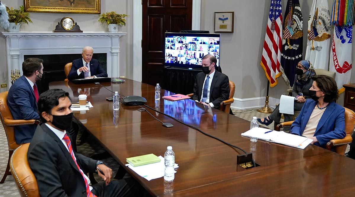 President Joe Biden leads the CEO Summit on Semiconductor and Supply Chain Resilience