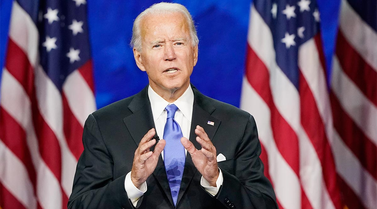 Joe Biden speaking at the Democratic National Convention
