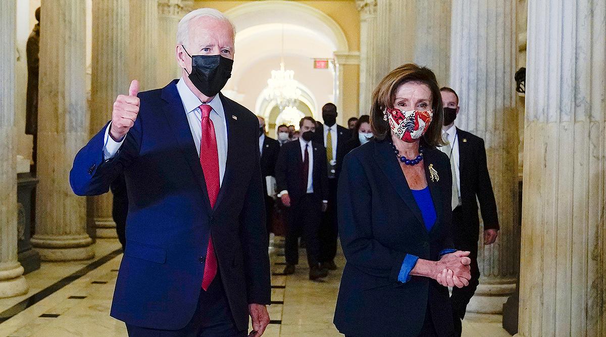 President Biden with House Speaker Nancy Pelosi