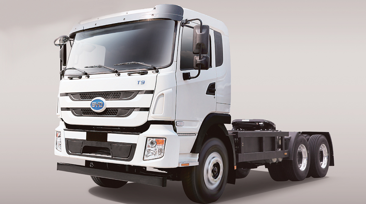A BYD truck.