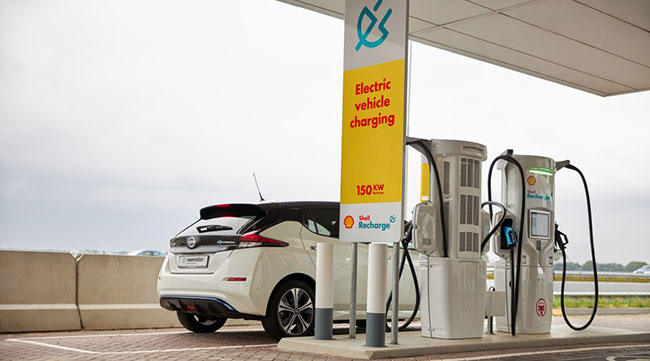 Shell Electric vehicle charging station