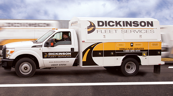 Dickinson Fleet Services service truck