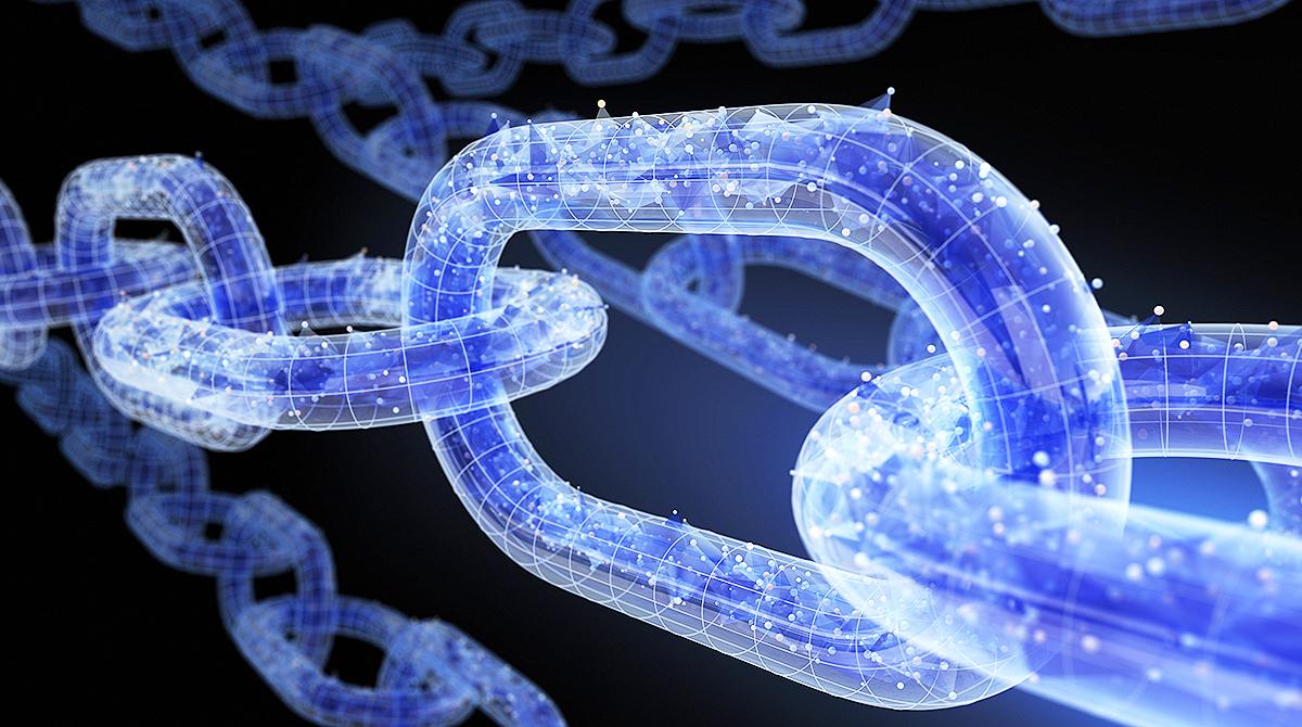 blockchain illustration