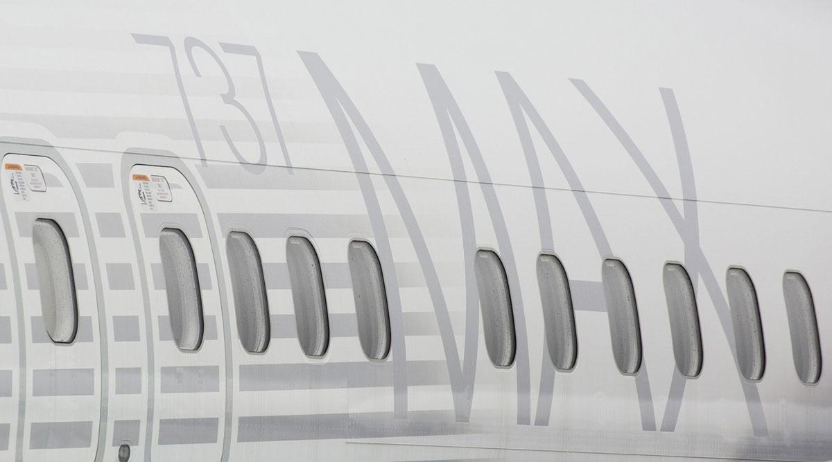 A Boeing 737 Max plane.