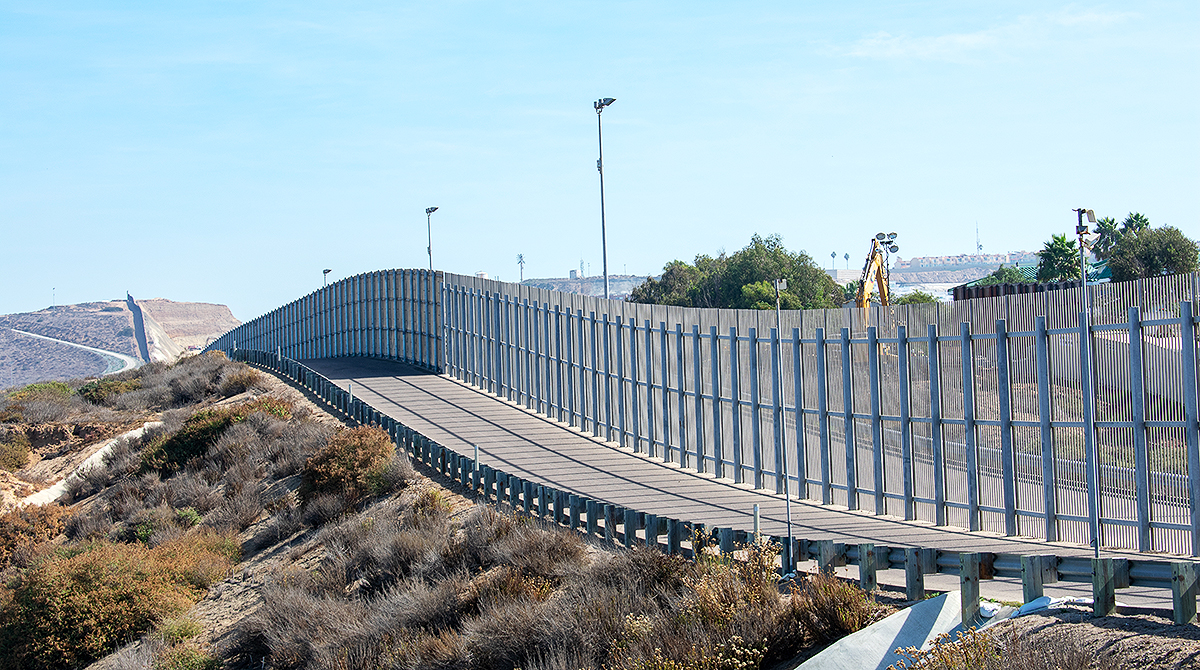 U.S.-Mexico border on California side