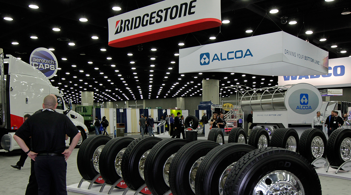Bridgestone Tire booth at 2016 Mid-America Trucking Show