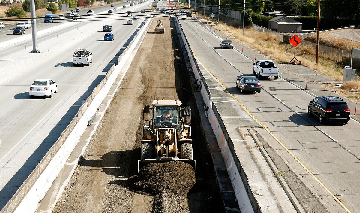 Road construction in Sacramento