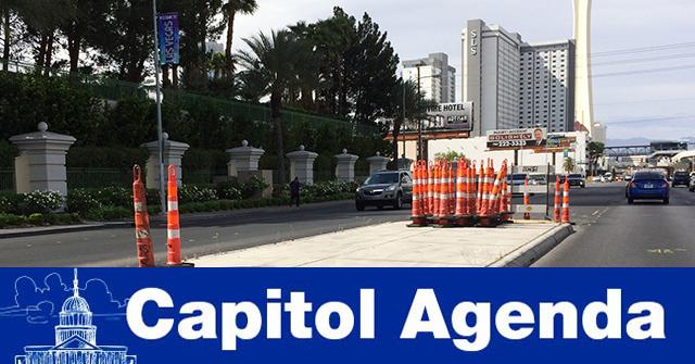 Traffic cones in Las Vegas
