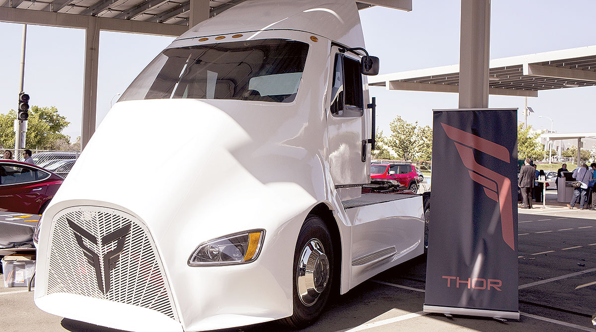 Thor ET-One all electric semi-truck
