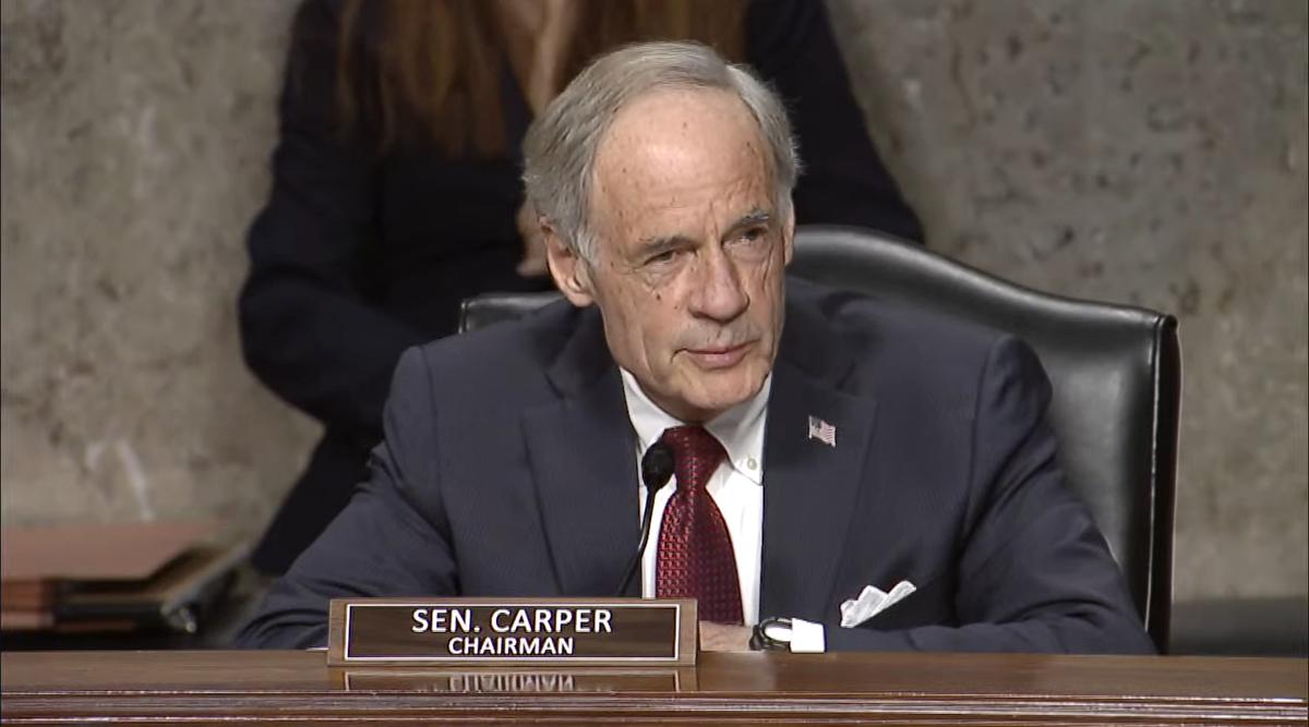 Sen. Tom Carper leads EPW hearing