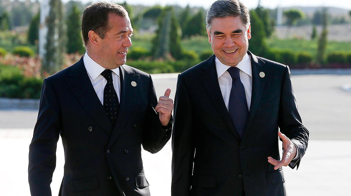 Dmitry Medvedev and Gurbanguly Berdymukhamedov